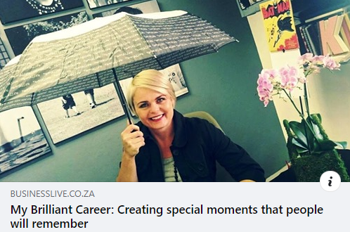 My Brilliant Career: Creating special moments that people will remember